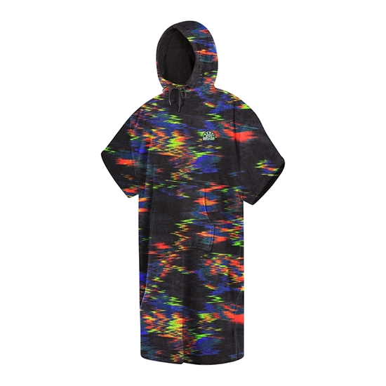 Picture of Poncho Velour Rainbow