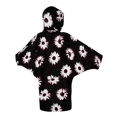 Picture of Poncho Ladies Black/White