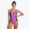 Εικόνα από The Wild Zipped Swimsuit Black/Pink